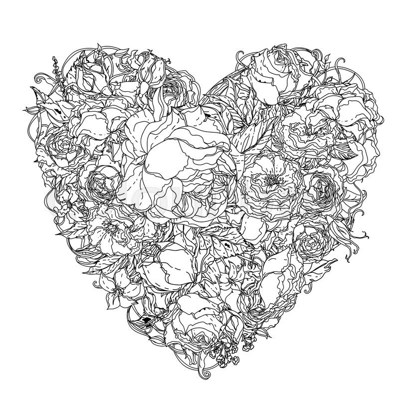 Herz Ausmalbilder Für Erwachsene Kostenlos Zum Ausdrucken 1