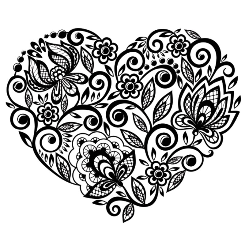 Free Adult Coloring Page Happy Valentines Card