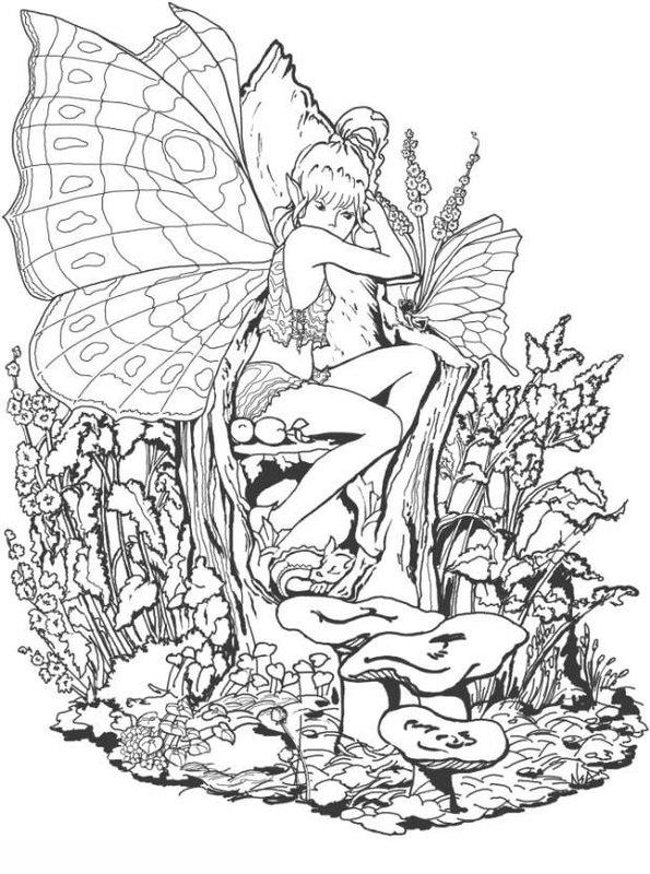 fantasy ausmalbilder für erwachsene kostenlos zum ausdrucken 1