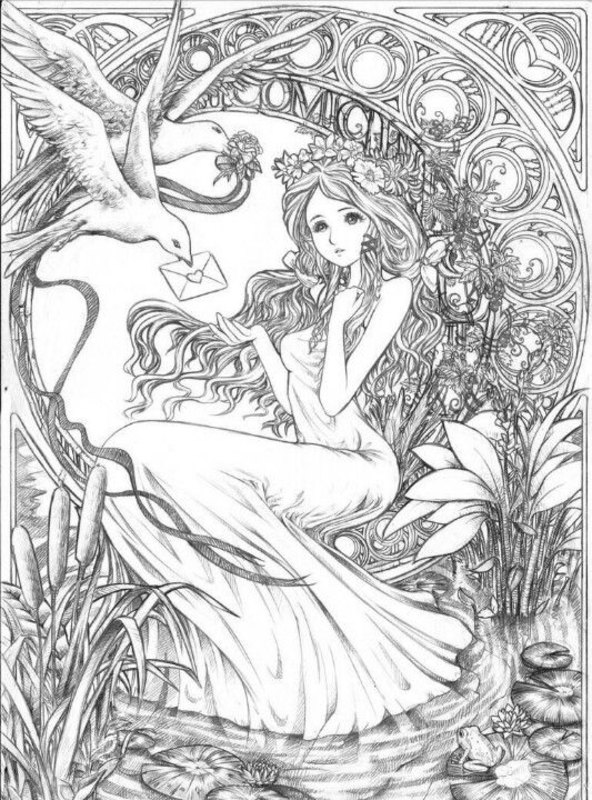 Fantasy Ausmalbilder für Erwachsene kostenlos zum Ausdrucken 2
