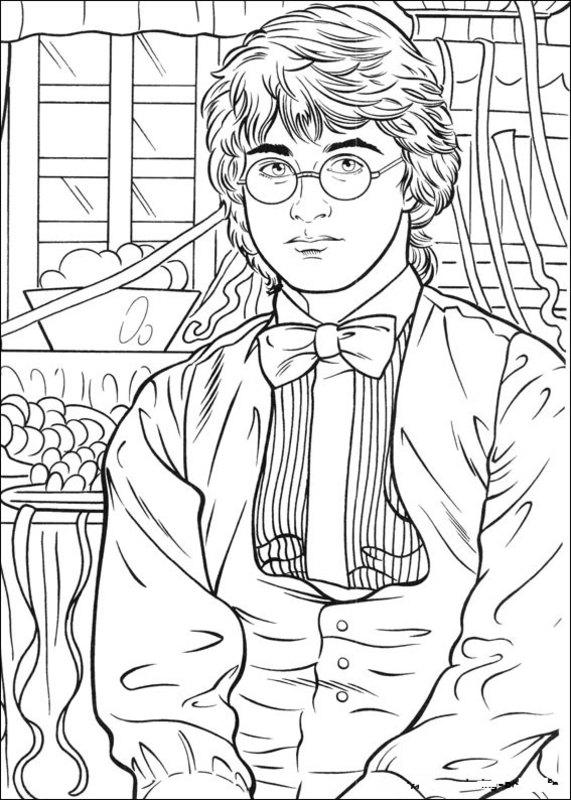 Harry Potter Ausmalbilder für Erwachsene kostenlos zum Ausdrucken 2