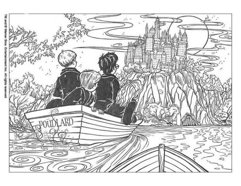 Harry Potter Ausmalbilder Für Erwachsene Kostenlos Zum