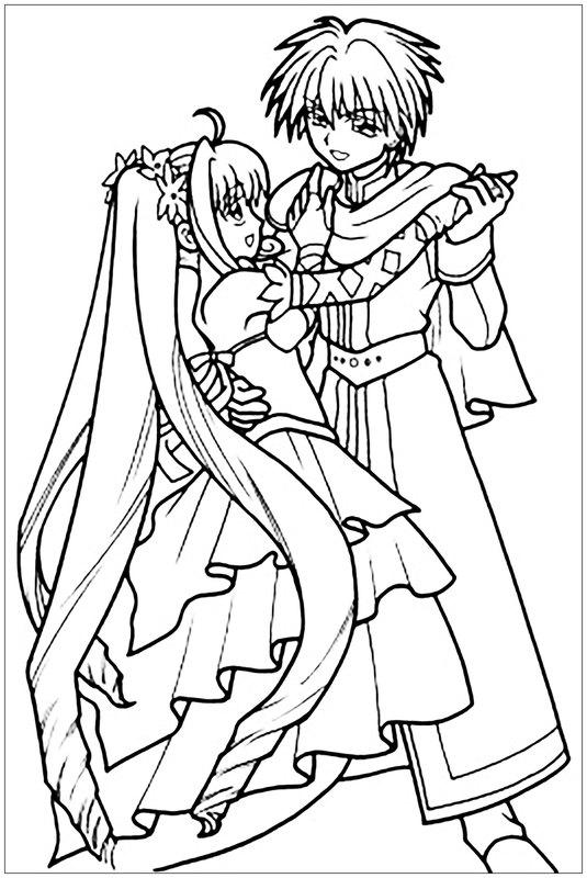 Manga anima ausmalbilder f r erwachsene kostenlos zum ausdrucken 1 - Coloriage manga difficile ...
