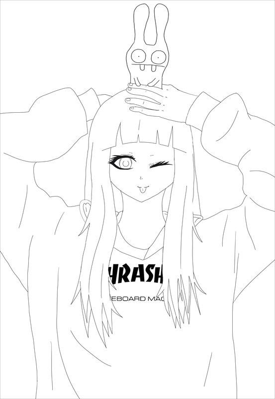 Manga Anima Ausmalbilder Für Erwachsene Kostenlos Zum Ausdrucken 2