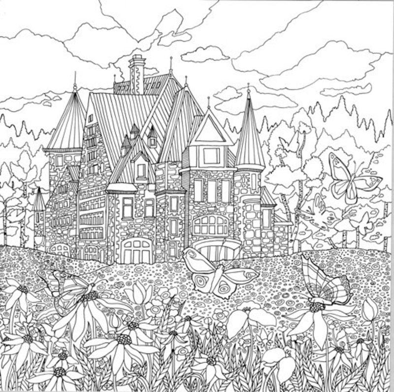Der geheime Garten Ausmalbilder für Erwachsene kostenlos zum ...