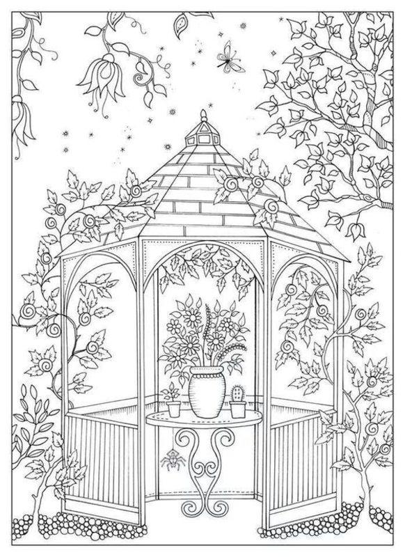 Der geheime Garten Ausmalbilder f r Erwachsene kostenlos