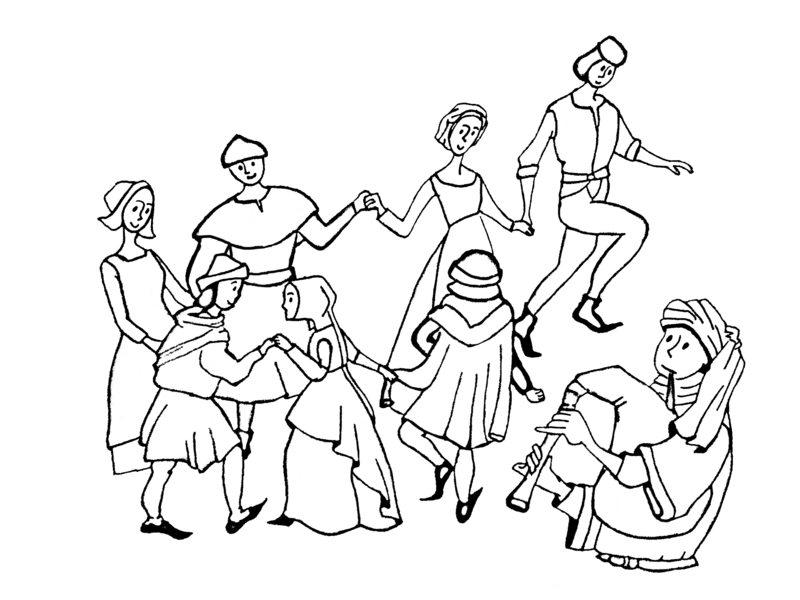 Mittelalter ausmalbilder f r erwachsene kostenlos zum ausdrucken 1 - Dessins moyen age ...