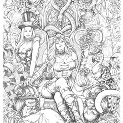 Fantasy Ausmalbilder für Erwachsene kostenlos zum Ausdrucken