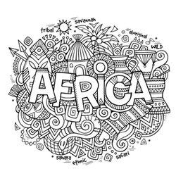 africa coloring pages for adults 1