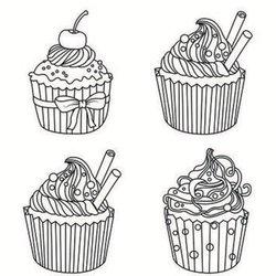 Cupcake Ausmalbilder f\u00fcr Erwachsene kostenlos zum Ausdrucken