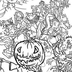 Halloween Ausmalbilder Für Erwachsene Kostenlos Zum Ausdrucken