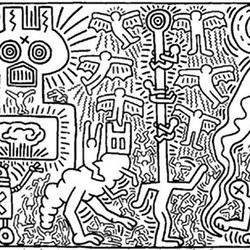 Keith Haring Ausmalbilder fr Erwachsene kostenlos zum Ausdrucken