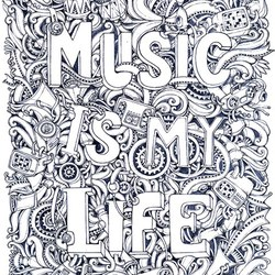 music coloring pages for adults 3