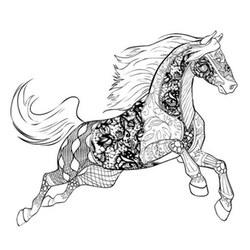 Pferde Ausmalbilder F 252 R Erwachsene Kostenlos Zum Ausdrucken
