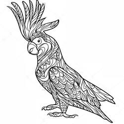 papagei ausmalbilder für erwachsene kostenlos zum ausdrucken