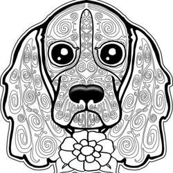 Hunde Ausmalbilder Für Erwachsene Kostenlos Zum Ausdrucken