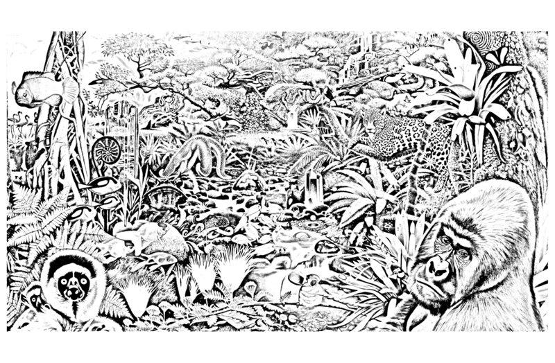 Schön Ausmalbilder Dschungel Galerie - Framing Malvorlagen ...