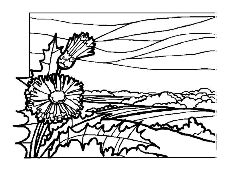 malvorlagen landschaften ausdrucken  kinder zeichnen und