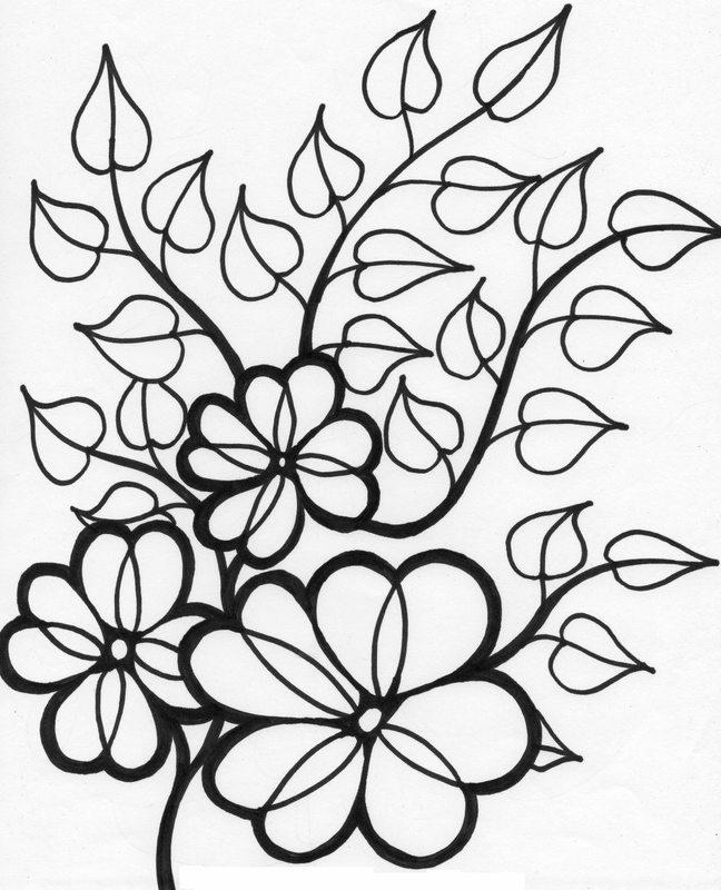 Blumen Ausmalbilder f r Erwachsene kostenlos zum Ausdrucken 1
