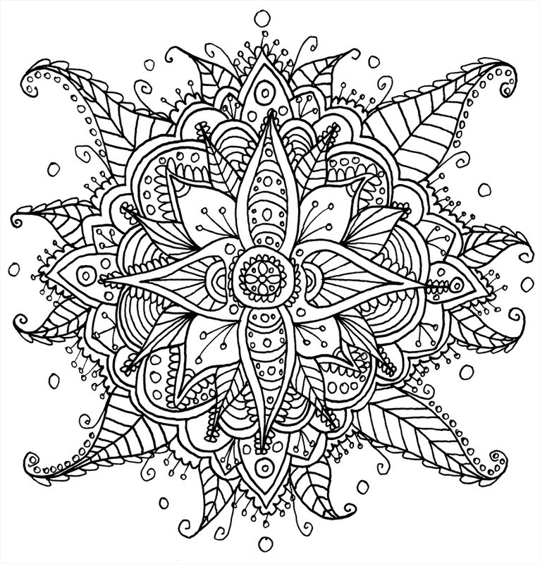 Blumen ausmalbilder f r erwachsene kostenlos zum ausdrucken 1 - Coloriage fleur tres jolie ...