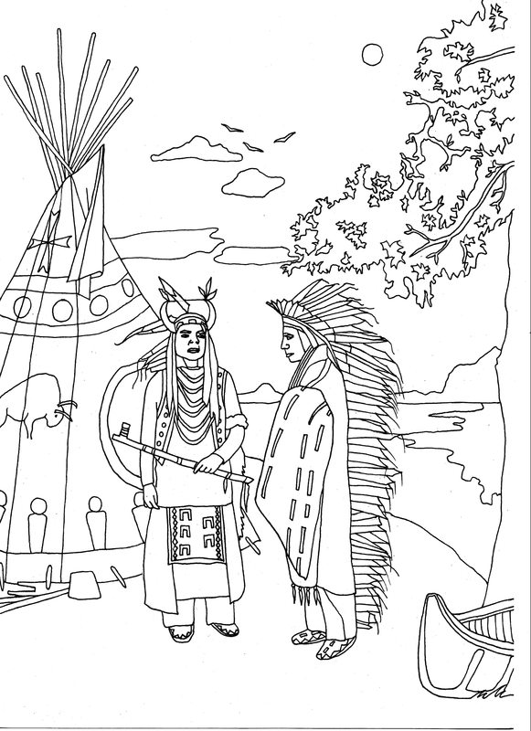 Native American Pattern Coloring Page