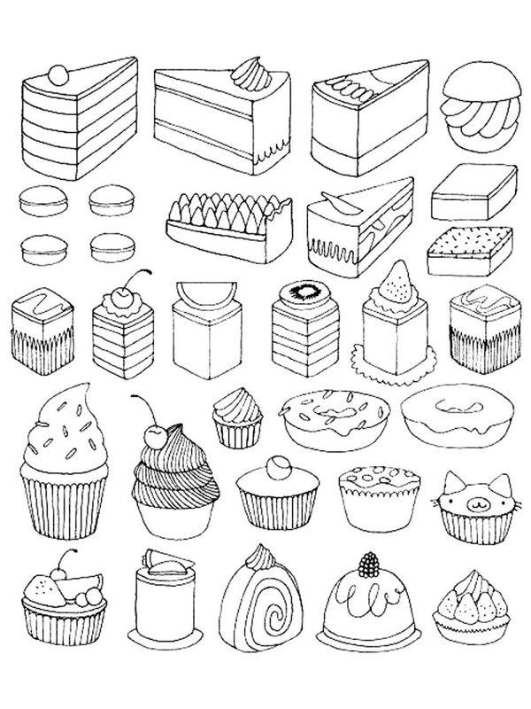 Cupcake Ausmalbilder für Erwachsene kostenlos zum Ausdrucken 1