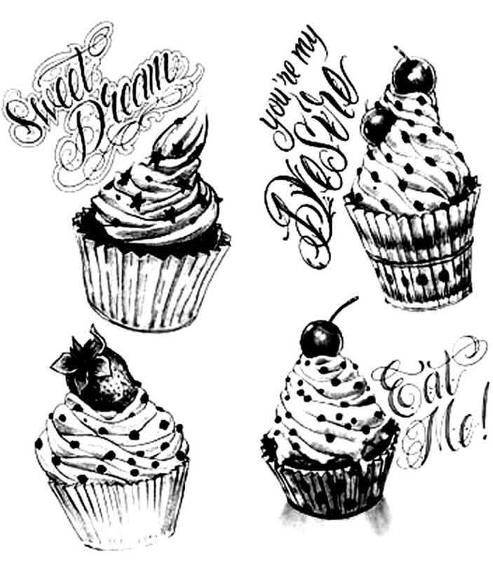 Cupcake Ausmalbilder f r Erwachsene kostenlos zum Ausdrucken 1
