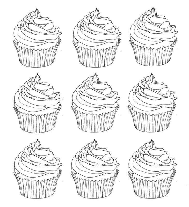 Cupcake Ausmalbilder Für Erwachsene Kostenlos Zum Ausdrucken 2