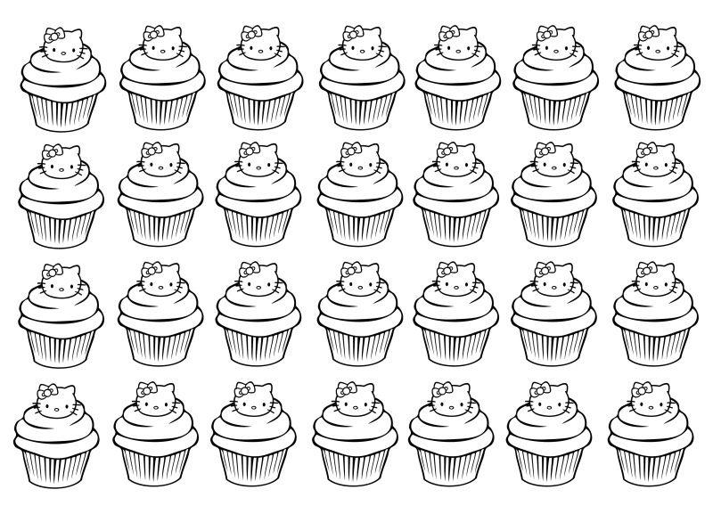 Kleurplaat Mond Cupcake Ausmalbilder F 252 R Erwachsene Kostenlos Zum Ausdrucken 2