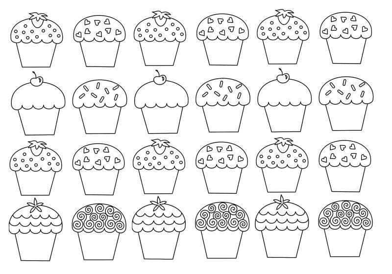 Cupcake Ausmalbilder F 252 R Erwachsene Kostenlos Zum Ausdrucken 3