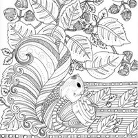 nature coloring pages for adults, free to print, online
