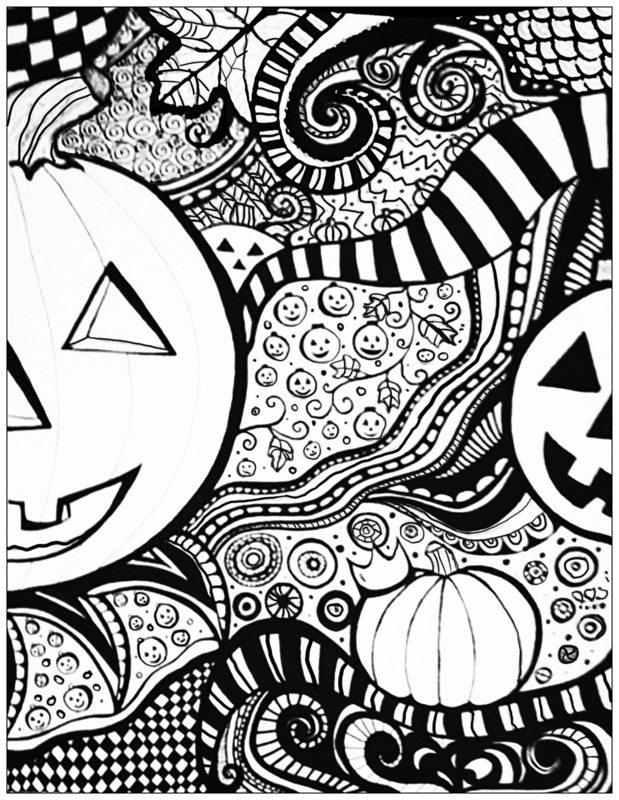halloween ausmalbilder für erwachsene kostenlos zum