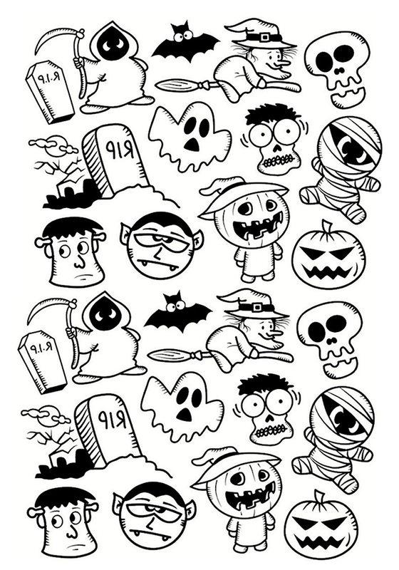 Halloween Ausmalbilder für Erwachsene kostenlos zum Ausdrucken 3