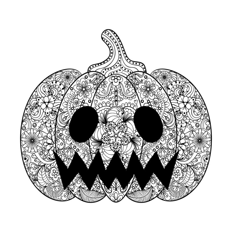 Halloween Ausmalbilder für Erwachsene kostenlos zum Ausdrucken 4