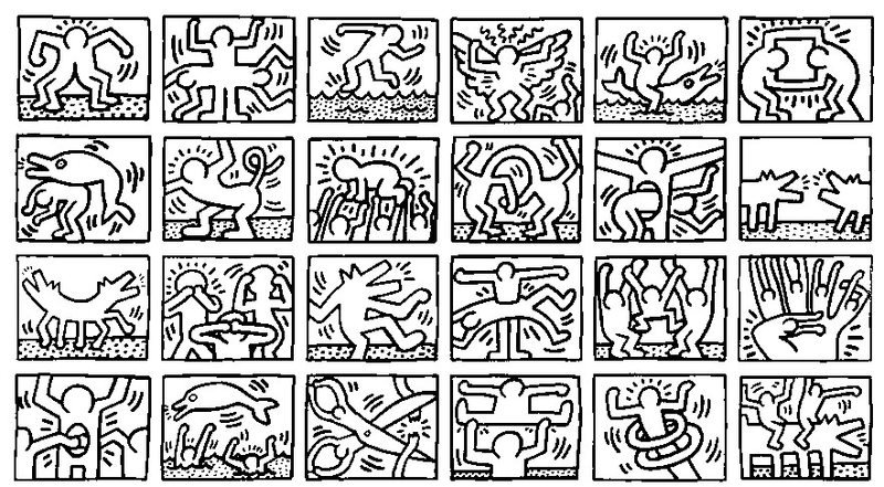 keith haring ausmalbilder f r erwachsene kostenlos zum ausdrucken 1. Black Bedroom Furniture Sets. Home Design Ideas