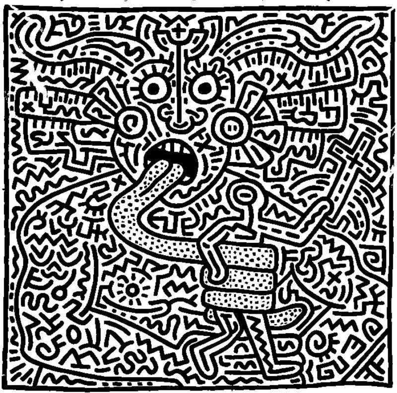 Keith Haring Ausmalbilder für Erwachsene kostenlos zum ...
