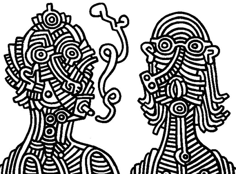 Keith Haring Ausmalbilder f r Erwachsene