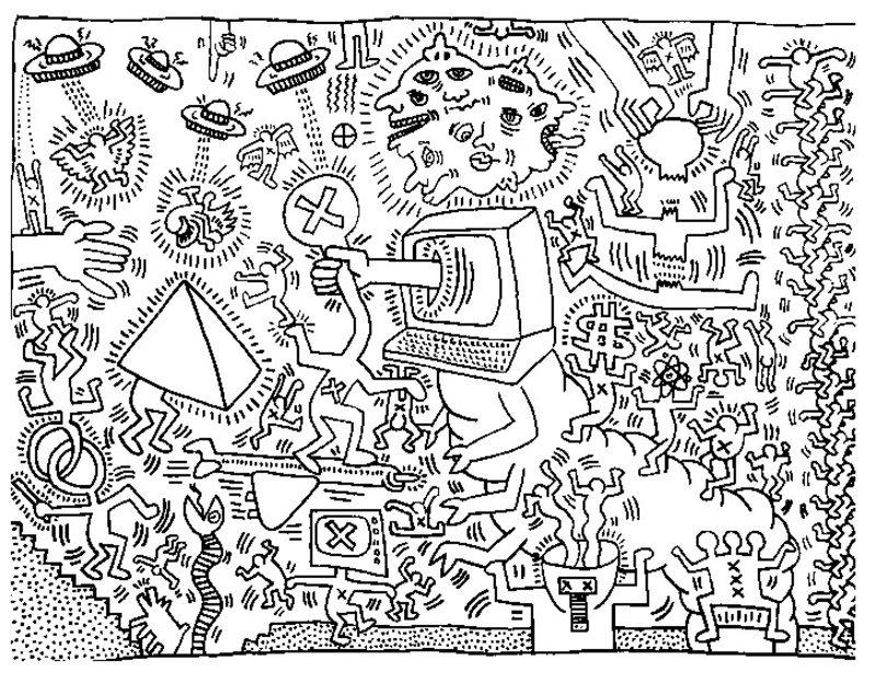 Keith Haring Ausmalbil...