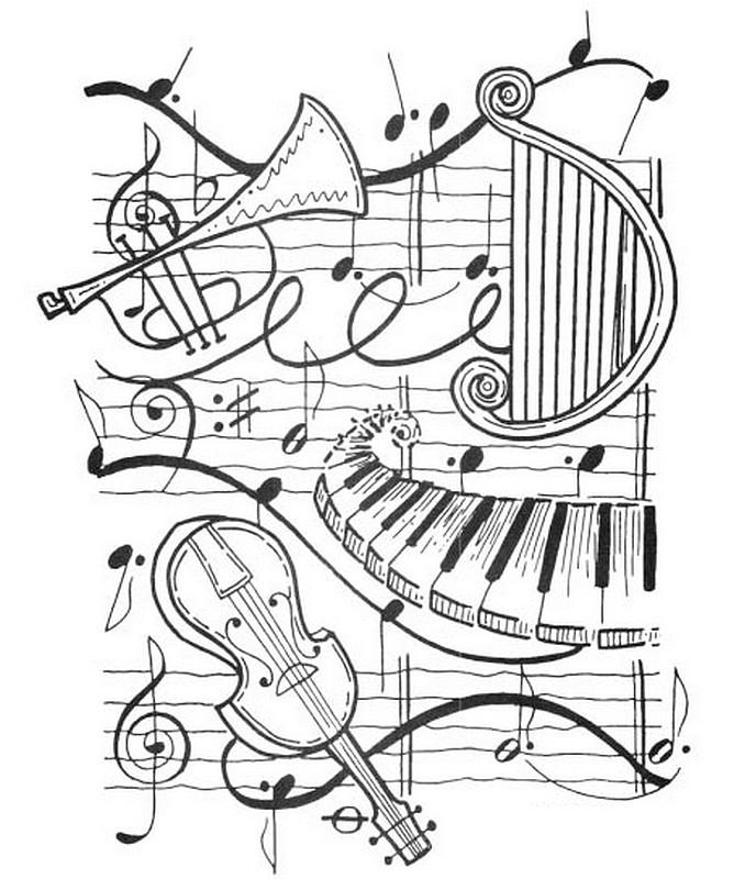 Musik Ausmalbilder Für Erwachsene Kostenlos Zum Ausdrucken 1