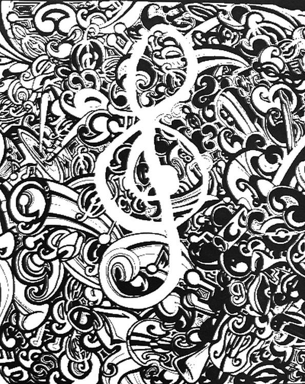 Musik Ausmalbilder Für Erwachsene Kostenlos Zum Ausdrucken 3