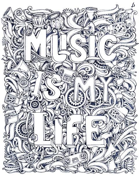 musik ausmalbilder f 252 r erwachsene kostenlos zum ausdrucken 3