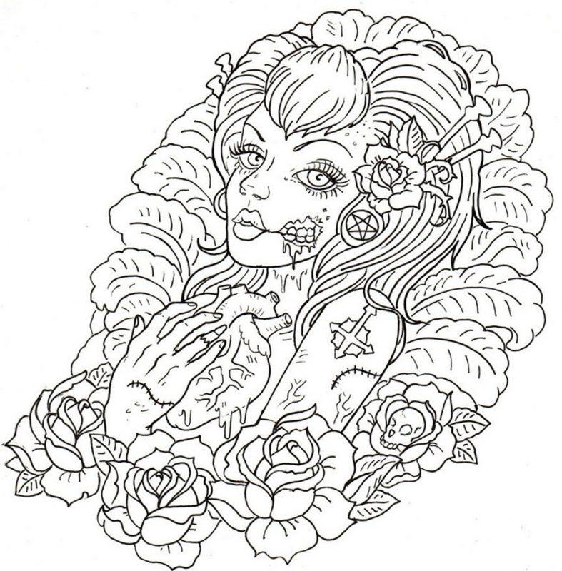 tattoos ausmalbilder für erwachsene kostenlos zum ausdrucken 1