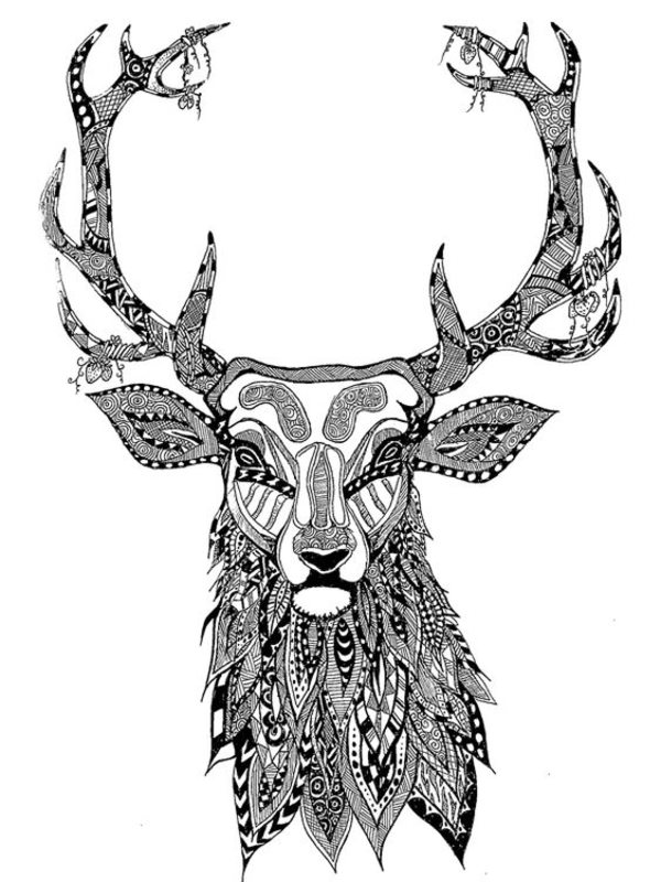 The Wild Christmas Reindeer Coloring Page