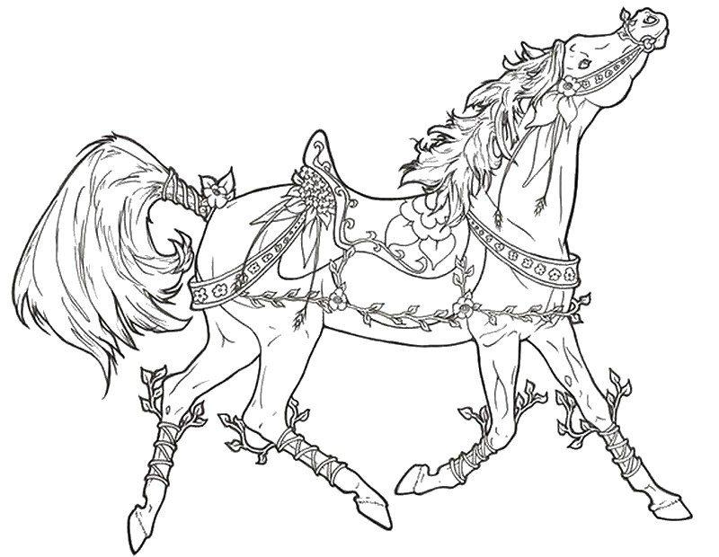 Pferde Ausmalbilder Fur Erwachsene Kostenlos Zum Ausdrucken Teil 4