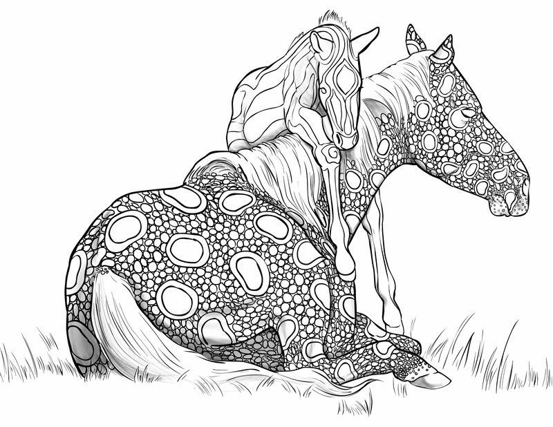 Pferde Ausmalbilder Für Erwachsene Kostenlos Zum Ausdrucken Teil 5