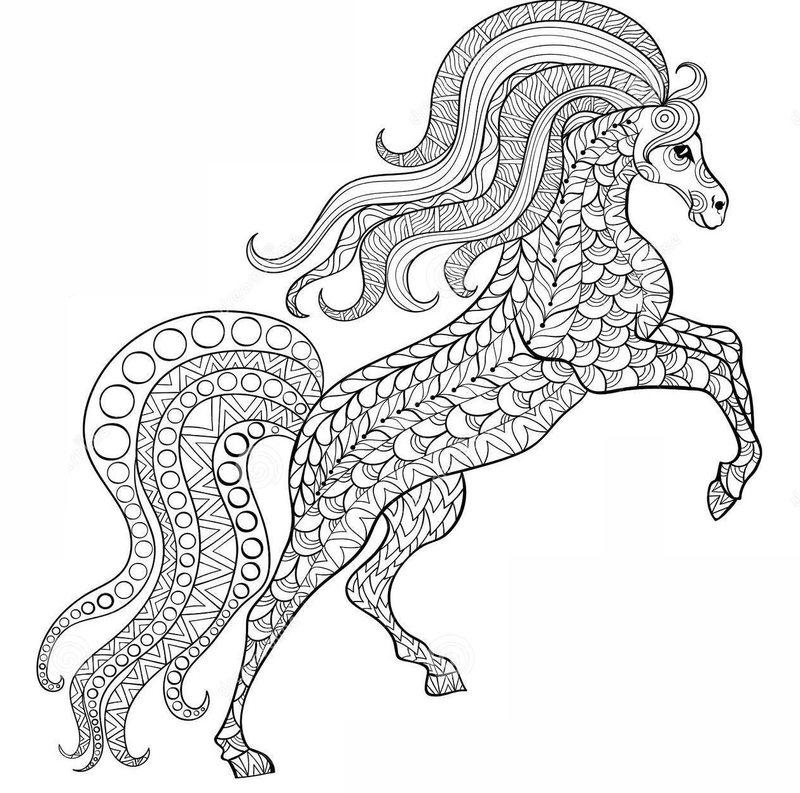 Pferde Ausmalbilder für Erwachsene kostenlos zum ...