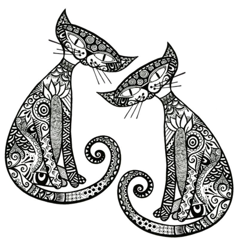 Katzen Ausmalbilder Für Erwachsene Kostenlos Zum Ausdrucken Teil 2