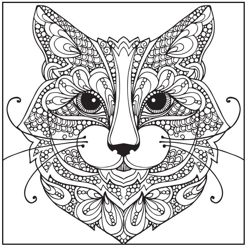 Ausmalbilder Für Erwachsene Katzen ~ Die Beste Idee Zum Ausmalen von ...