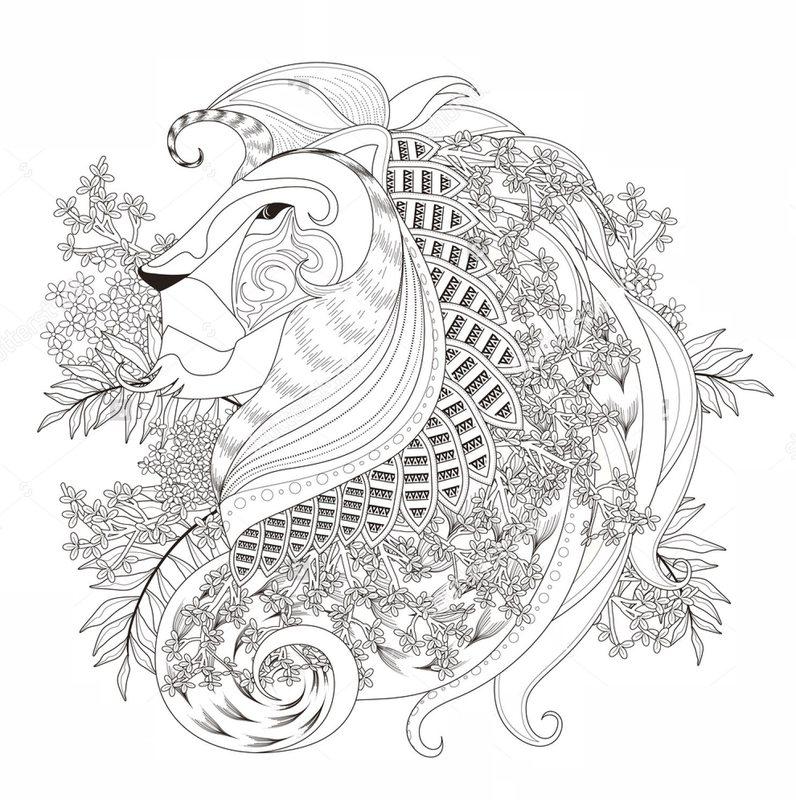 Löwen Ausmalbilder Für Erwachsene Kostenlos Zum Ausdrucken Teil 4