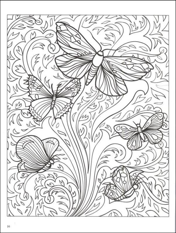 Schmetterlinge Ausmalbilder Fur Erwachsene Kostenlos Zum